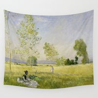 monet Wall Tapestries featuring Summer by Claude Monet by Palazzo Art Gallery