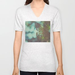 Bokeh With Butterfly Wings Unisex V-Neck