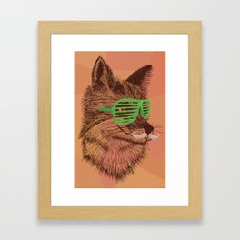 Hipster Fox Framed Art Print