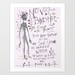 No Vine Could Bind Her Art Print