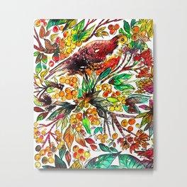 Cinnamon Dove Metal Print