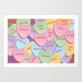 Valentine's candies Art Print