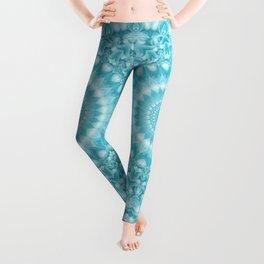 Caribbean Blue Mandala Leggings