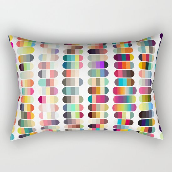 Palette color 100 Rectangular Pillow