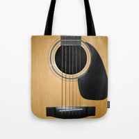 guitar Tote Bags featuring Guitar by Nicklas Gustafsson
