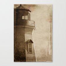 Sepia Light House Canvas Print