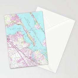 Vintage Map of Port St Lucie Inlet (1948) Stationery Cards