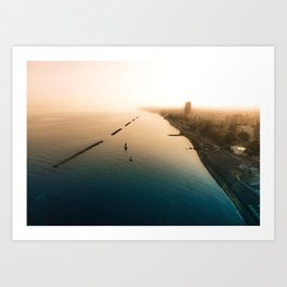 Dust over the city Art Print