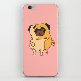 Pug Hugs iPhone Skin