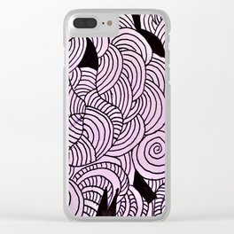Ether Formation Black and White Clear iPhone Case