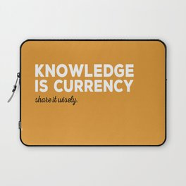 Knowledge Is Currency Laptop Sleeve