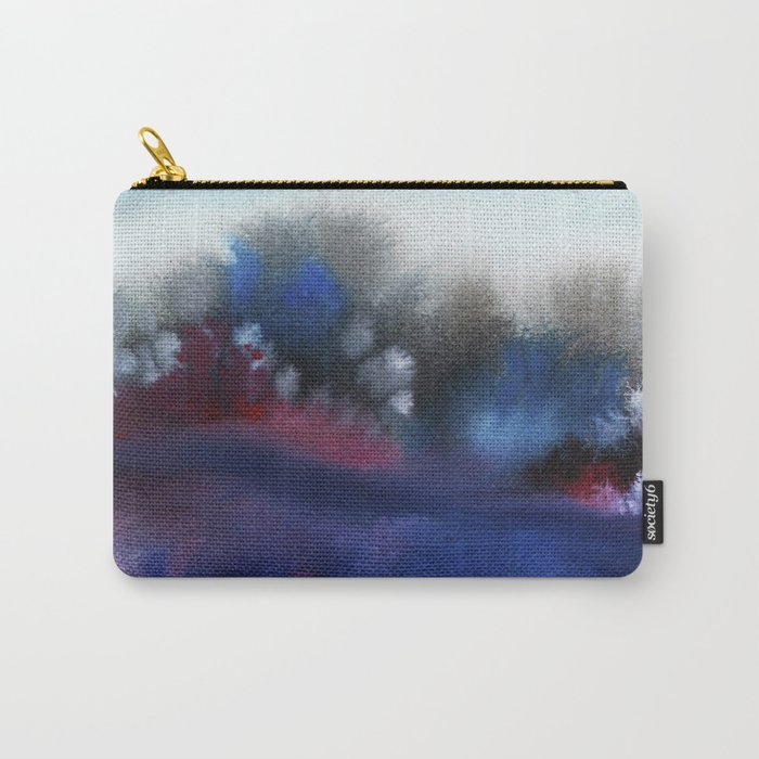 Watercolor abstract landscape 25 Carry-All Pouch