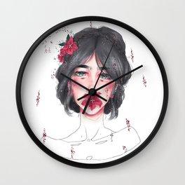 Elegant Words Wall Clock