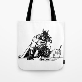 Cleaning up Gotham City Tote Bag