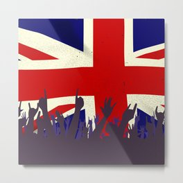 England State Flag with Audience Metal Print