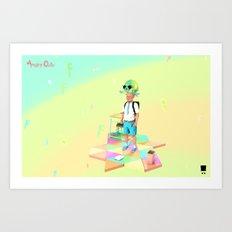 Angryocto - Joun's Math grade2 Art Print