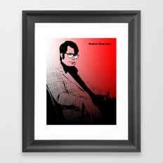 Stephen King Rules Framed Art Print