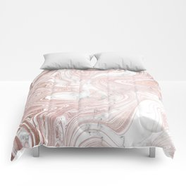 Rose Gold Wind Comforters