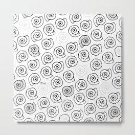 Seashells - pop parttern Metal Print