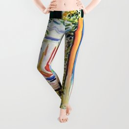 The Open Window Coastal - Floral and Maritime Collioure oil painting by Henri Matisse oil paint Leggings