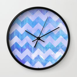 Watercolour Chevron {Spring 2015 Limited Edition} No. 3 Wall Clock