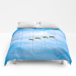 aircraft vintage airplanes aviation Comforters