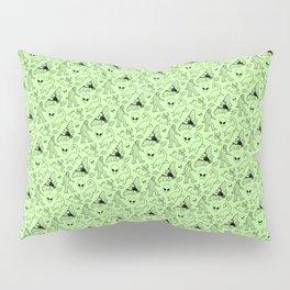 Cryptid Pattern: Black on Green Pillow Sham