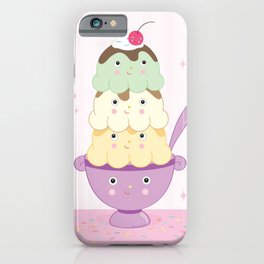 Cute Ice Cream Sundae iPhone Case