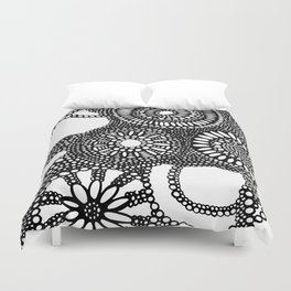 graphic dots pattern Duvet Cover
