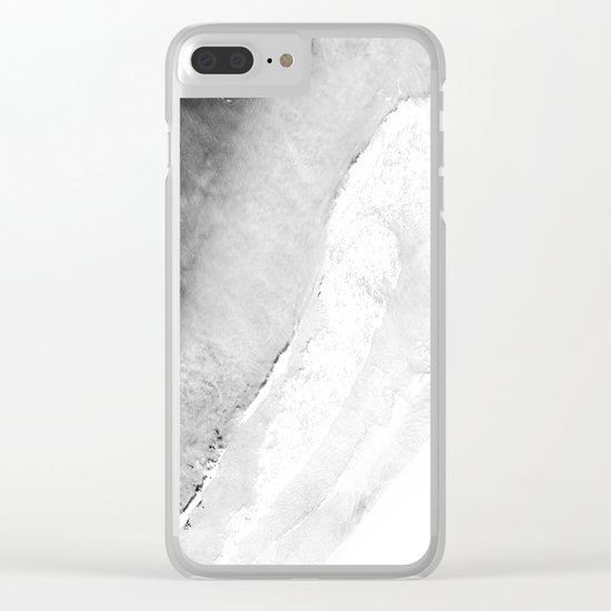 Waves in beach Clear iPhone Case