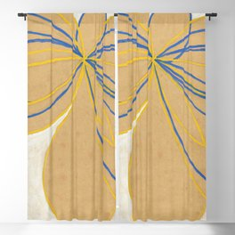 """Hilma af Klint """"The Seven-Pointed Star No. 1"""" Blackout Curtain"""
