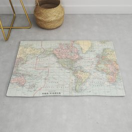 Vintage World Map (1901) Rug