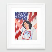 the national Framed Art Prints featuring National Anthem by MariaBertosh