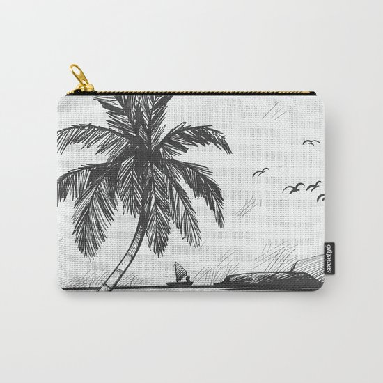 Beach graphic sketch art Carry-All Pouch