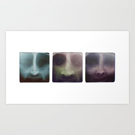 Up close portraits.  Three brothers. Art Print