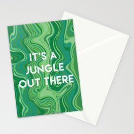 Marbled Pattern - It's A Jungle Out There Stationery Cards