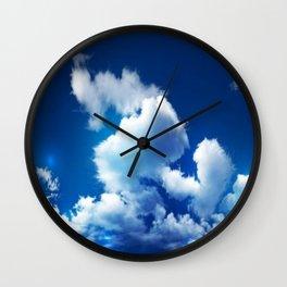 blue sky cloud Wall Clock