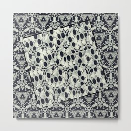 Black and White Fusions Metal Print