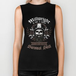 Awesome Millwright Post Apocalyptic Survival Skill  Biker Tank