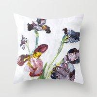 german Throw Pillows featuring German Iris by Shinichi Imanaka