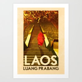 Laos - Luang Prabang Art Print