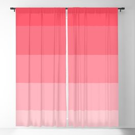 Strawberry Pink Ombre Stripes Blackout Curtain
