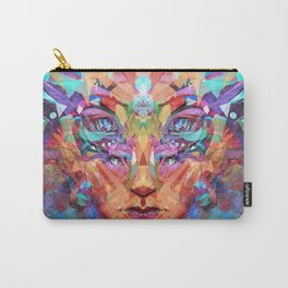 Betrothal of Bastet (Crystal Lioness Goddess) Carry-All Pouch