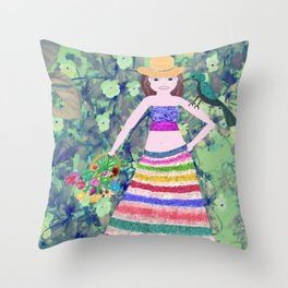 Well, Hi there... Throw Pillow