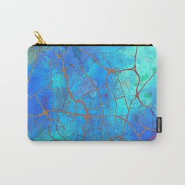 Frankfurt Germany Street Map Art Watercolor Blue Carry-All Pouch