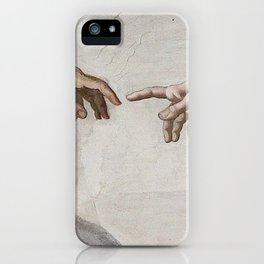 THE CREATION OF ADAM - MICHELANGELO iPhone Case