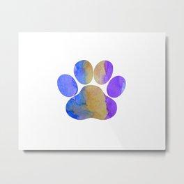 Dog Paw Metal Print