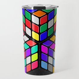 Graphic 947 // Rubik's Cube Isometric Illustration Travel Mug