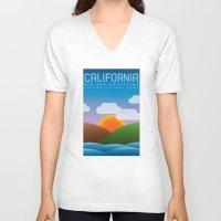 big sur V-neck T-shirts featuring Big Sur, California by dzynwrld