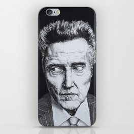Portrait of Christopher Walken iPhone Skin